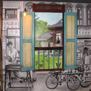 Restaurant mural (window display)