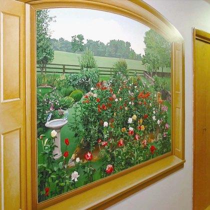 Rose Garden Themed Mural