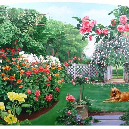 Rose Garden Themed Mural (detail)